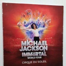 Catálogos de Música: MICHAEL JACKSON - THE IMMORTAL WORLD TOUR - CIRCO DEL SOL. Lote 57877259