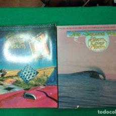Catálogos de Música: ALBUM COVER PRIMERO Y SEGUNDO. CON PORTADAS DE DISCOS HASTA 1977 DRAGON'S WORLD BOOK.UNITED KINGDOM. Lote 269068348