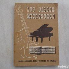 Catálogos de Música: LOS DISCOS MICROSURCO, PRIMER CATÁLOGO GUÍA PUBLICADO EN ESPAÑA. AÑO 1954. Lote 269503858