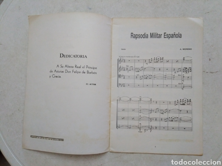 Catálogos de Música: Rapsodia Militar Española, Abel Moreno ( libreto de 30 páginas ) - Foto 2 - 272234793