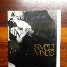 Catalogues de Musique: LIBRO DE FOTOGRAFÍAS DE SIMPLE MINDS. CON 40 PÁGINAS MUY ILUSTRADAS. EN MUY BUEN ESTADO.. Lote 275938543