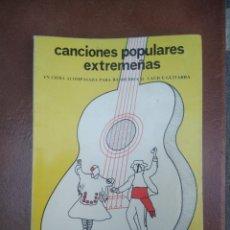 Catálogos de Música: LIBRO CANCIONES POPULARES EXTREMEÑAS DE ENRIQUE MOLINA SENRA 1983. Lote 275996123