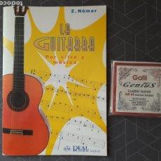Catálogos de Música: GUITARRA ESPAÑOLA.CUERDAS PROFESIONALES GALLI GENIUS.GR65 Y LIBRO PARA GUITARRA.. Lote 277070793