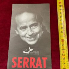 Catálogos de Música: PROGRAMA 1999 JOAN MANUEL SERRAT, LAS PALMAS DE GRAN CANARIA.(3,18 ENVÍO CERTIFICADO). Lote 277174648