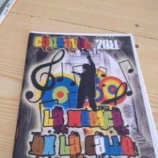 Catalogues de Musique: C-13 LIBRETO MUSICA CARNAVAL DE CADIZ LA MUSICA EN LA CALLE. Lote 277231393