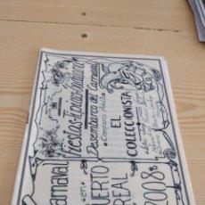 Catálogos de Música: C-13 LIBRETO MUSICA CARNAVAL DE CADIZ EL COLECCIONISTA. Lote 277231693