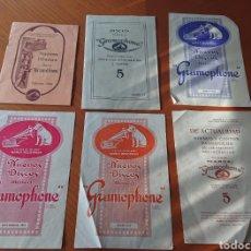 Catalogues de Musique: LA VOZ DE SU AMO CATÁLOGOS, DISCOS, ACTUALIZACIONES, 1915, ORIGINALES, VED FOTOS, GRAMÓFONO. Lote 277502313