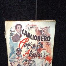 Catalogues de Musique: CANCIONERO - PENAS Y ALEGRIAS - POESIA EN COPLA - JUANITO VALDERRAMA ETC.. - BISTAGNE. Lote 277673568