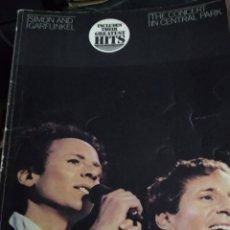 Catálogos de Música: LIBRO 1982 SIMON AND GARFUNKEL, THE CONCERT IN CENTRAL PARK. Lote 278626638