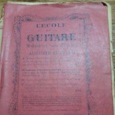 Catálogos de Música: LECCIONES DE GUITARRA SIGLO XIX AUGUSTE ZURFLUH. Lote 278637808