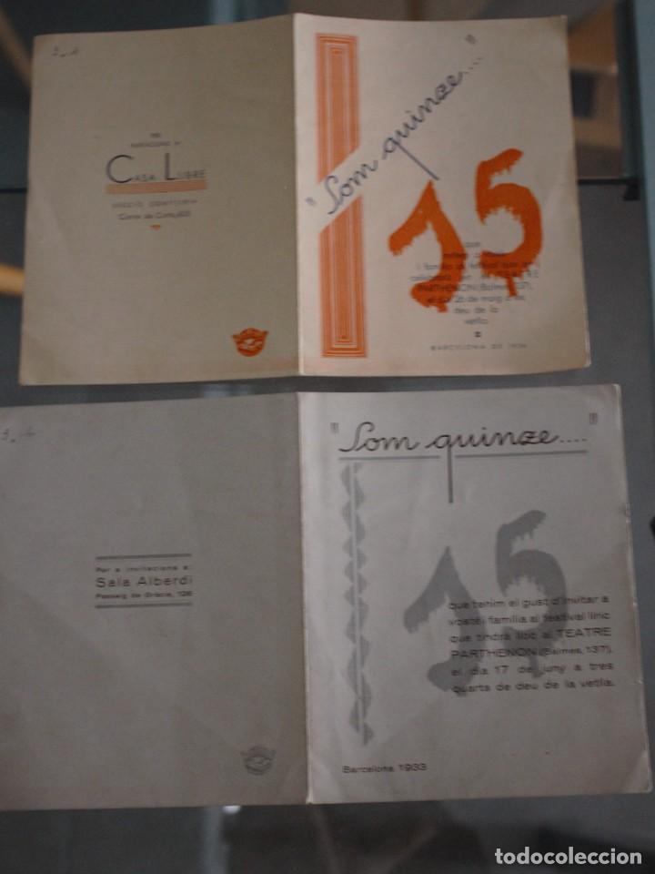 Catálogos de Música: DIPTICO LA HOLANDESITA (INVITACIÓN CASA LLIBRE) + EL CONDE DE LUXEMBURGO (INVITACIÓN SALA ALBERDI) - Foto 2 - 278927018