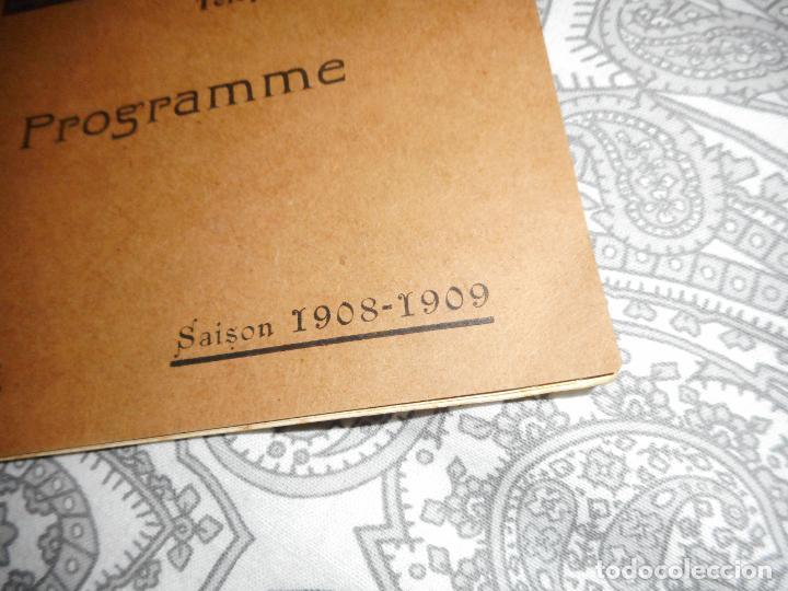 Catálogos de Música: PROGRAMME.CONCERTS FRANCIS TOUCHE.BOULEVARD STRASBOURG.1908-09.FELIX FOUNTAIN.ORGE.MAURICE TREMBLAY - Foto 2 - 279332728