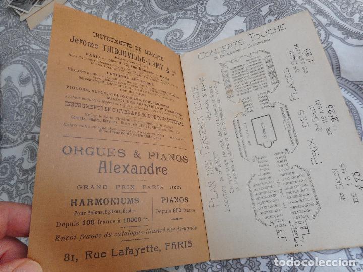 Catálogos de Música: PROGRAMME.CONCERTS FRANCIS TOUCHE.BOULEVARD STRASBOURG.1908-09.FELIX FOUNTAIN.ORGE.MAURICE TREMBLAY - Foto 3 - 279332728