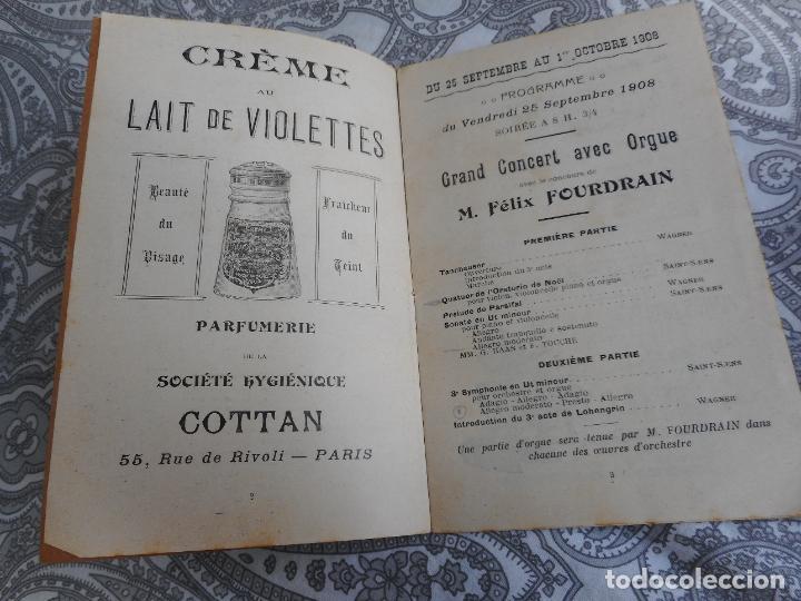 Catálogos de Música: PROGRAMME.CONCERTS FRANCIS TOUCHE.BOULEVARD STRASBOURG.1908-09.FELIX FOUNTAIN.ORGE.MAURICE TREMBLAY - Foto 4 - 279332728