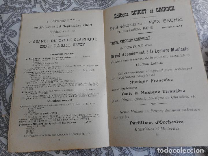 Catálogos de Música: PROGRAMME.CONCERTS FRANCIS TOUCHE.BOULEVARD STRASBOURG.1908-09.FELIX FOUNTAIN.ORGE.MAURICE TREMBLAY - Foto 6 - 279332728