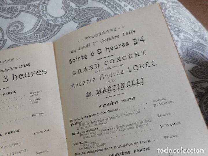 Catálogos de Música: PROGRAMME.CONCERTS FRANCIS TOUCHE.BOULEVARD STRASBOURG.1908-09.FELIX FOUNTAIN.ORGE.MAURICE TREMBLAY - Foto 7 - 279332728