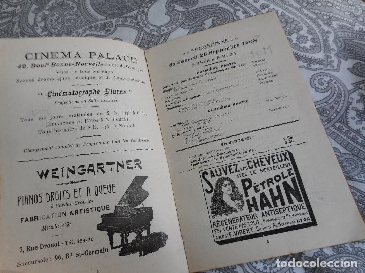 Catálogos de Música: PROGRAMME.CONCERTS FRANCIS TOUCHE.BOULEVARD STRASBOURG.1908-09.FELIX FOUNTAIN.ORGE.MAURICE TREMBLAY - Foto 9 - 279332728