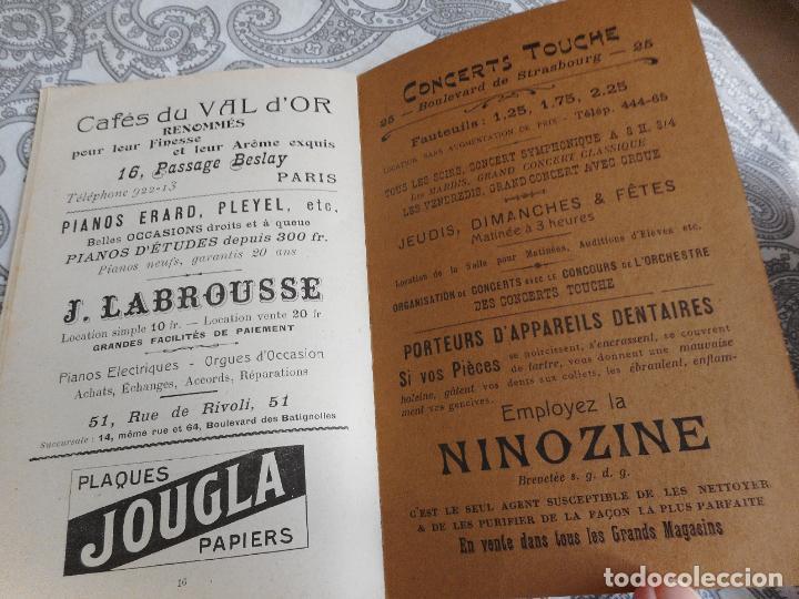 Catálogos de Música: PROGRAMME.CONCERTS FRANCIS TOUCHE.BOULEVARD STRASBOURG.1908-09.FELIX FOUNTAIN.ORGE.MAURICE TREMBLAY - Foto 10 - 279332728
