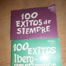 Catálogos de Música: 100 EXITOS DE SIEMPRE + 100 EXITOS IBERO-AMERICANOS - DISPONGO DE MAS REVISTAS. Lote 283307838