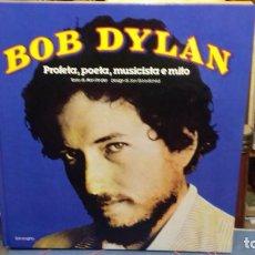 Catálogos de Música: BOB DYLAN LIBRO GRAN TAMAÑO EN ITALINO. Lote 283651168