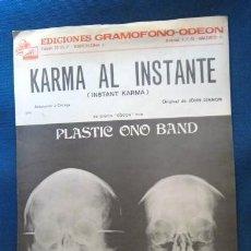 Catálogos de Música: BEATLES JOHN LENNON YOKO ONO PARTITURA ORIGINAL EPOCA EMI ODEON ESPAÑA 1970 COMPLETA. Lote 286016683