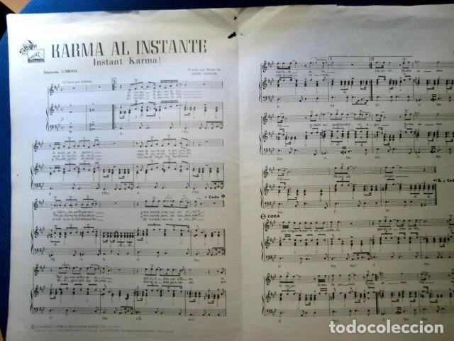 Catálogos de Música: BEATLES JOHN LENNON YOKO ONO PARTITURA ORIGINAL EPOCA EMI ODEON ESPAÑA 1970 COMPLETA - Foto 4 - 286016683