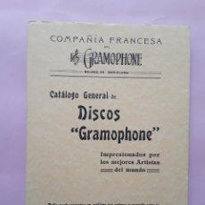Catálogos de Música: DISCOS GRAMOPHONE - -ENVÍO CERTIF TC 4,99. Lote 286540733