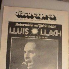 Catálogos de Música: REVISTA DISCO EXPRESS Nº 263. 23 FEBRERO 1974. LLUIS LLACH.CONCIERTO EN EL PALAU. Lote 286742433
