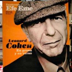 Cataloghi di Musica: CUADERNOS EFE EME. LEONARD COHEN. EN PROSA Y EN VERSO .EFE EME. Lote 287173593