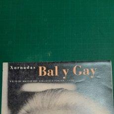 Catálogos de Música: JORNADAS BAL Y GAY MÚSICA COMPOSITOR DE LUGO BIBLIOTECA PÚBLICA. Lote 287757793