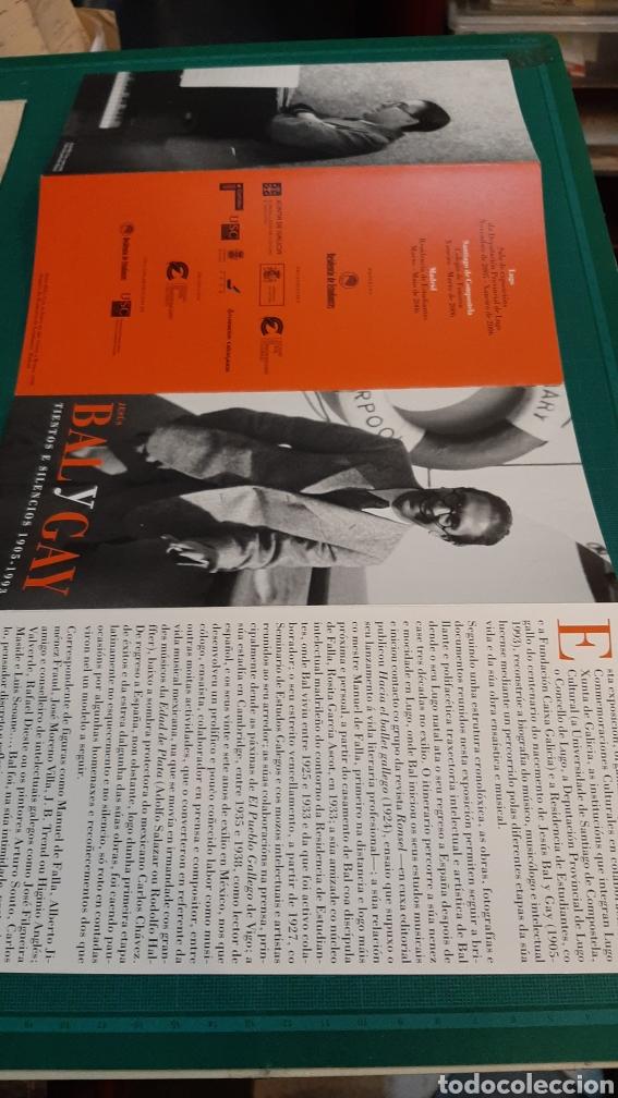 Catálogos de Música: BAL Y GAY COMPOSITOR MÚSICA CATÁLOGOS EXPOSICIÓN LUGO MADRID - Foto 3 - 287758338