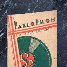Catálogos de Música: PARLOPHON,CATALOGO GENERAL AGOSTO 1930. Lote 287845328