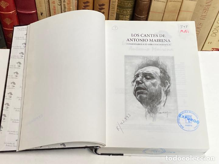 Catálogos de Música: AÑO 2004- LOS CANTES DE ANTONIO MAIRNA COMENTARIOS OBRA DISCOGRÁFICA - FLAMENCO LIBRO MÚSICA - Foto 2 - 287902143