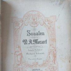 Catálogos de Música: 1900 MOZART - LIBRO DE MUSICA - SONATEN ARREGLOS LOUIS KÖHLER Y ALDOF RUTHARD - PETERS LEIPZIG 8162. Lote 288333813
