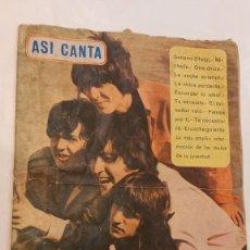 Catálogos de Música: ASI CANTA....LOS BEATLES. CANCIONERO ORIGINAL 1965. SEÑALES DE USO. Lote 288548298