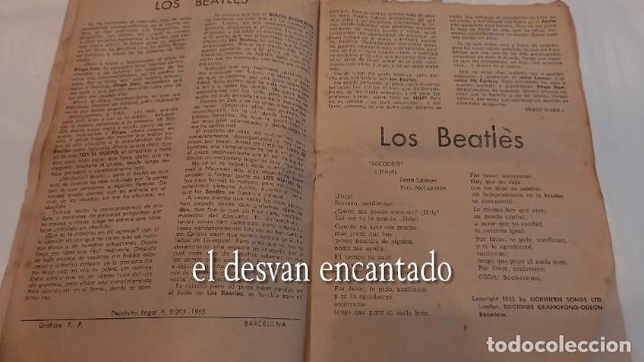 Catálogos de Música: ASI CANTA....Los BEATLES. Cancionero original 1965. Señales de uso - Foto 2 - 288548298
