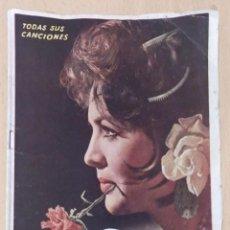Catálogos de Música: SARA MONTIEL (TODAS SUS CANCIONES) CANCIONERO EDICIONES BISTAGNE 1960. Lote 290023008