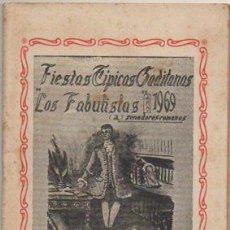 """Catálogos de Música: PACO ALBA. FIESTAS TIPICAS GADITANAS 1969. COMPARSA """"LOS FABULISTAS"""". REPERTORIO COMPLETO A-C-2082. Lote 293877898"""