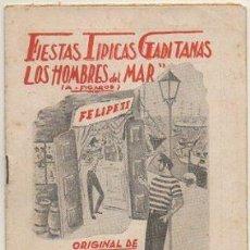 """Catálogos de Música: FIESTAS TIPICAS GADITANAS 1965. COMPARSA """"LOS HOMBRES DEL MAR"""". REPERTORIO COMPLETO A-C-2083. Lote 293878393"""