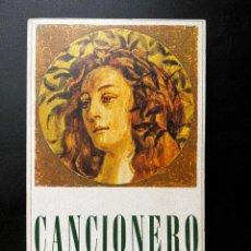 Catálogos de Música: CANCIONERO. FRANCESCO PETRARCA. NOVELAS Y CUENTOS. EMESA. MADRID, 1967. PAGS: 324. Lote 293907048