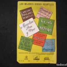 Catálogos de Música: LOS MEJORES DISCOS INFANTILES-AÑOS 50-ODEON-LA VOZ DE SU AMO...-CATALOGO PUBLICIDAD-VER FOTOS-K-4434. Lote 295505293