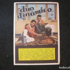Catálogos de Música: EL DUO DINAMICO-CANCIONERO-EDICIONES BISTAGNE-VER FOTOS-(K-4439). Lote 295506958
