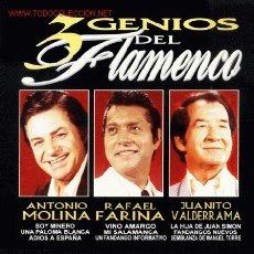 CDs de Música: CD ARCHIVO FLAMENCO-3 GENIOS FLAMENCOS. Lote 15943970