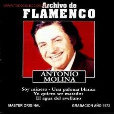 CDs de Música: CD ARCHIVO FLAMENCO-ANTONIO MOLINA. Lote 26243333