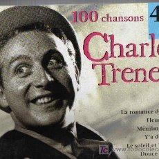 CDs de Música: CAJA 4 CD BOX CHARLES TRENET - 100 CHANSONS. Lote 21353978
