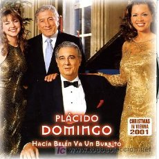 CDs de Música: PROMO CD. PLACIDO DOMINGO. HACIA BELEN VA UN BURRITO. Lote 24382374