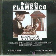 CDs de Música: CD ARCHIVO FLAMENCO-MANITAS DE PLATA-GUITARRA FLAMENCA. Lote 15994482