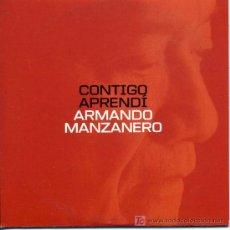 CDs de Música: ARMANDO MANZANERO / CONTIGO APRENDÍ (CD SINGLE 2000). Lote 5628655