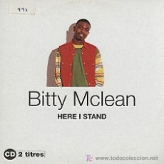 CDs de Música: BITTY MCLEAN / HERE I STAND - DON´T BE CONFUSED (CD SINGLE 1994). Lote 5710006