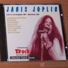 CDs de Música: CD: JANIS JOPLIN: LIVE IN LOS ANGELES 1967 - MONTEREY 1967. Lote 6724128